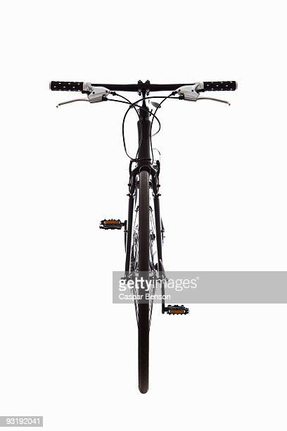 A mountain bike, still life, front view