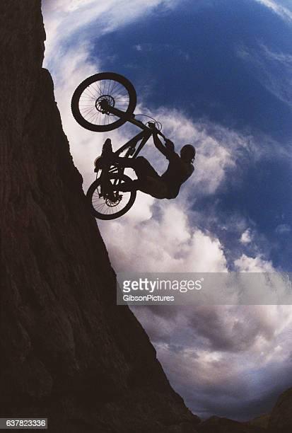 Mountain Bike Sunset Wheelie