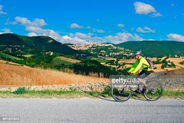 Mountain Bike Tour. Valle Del Misa. Arcevia. Marche. Italy.