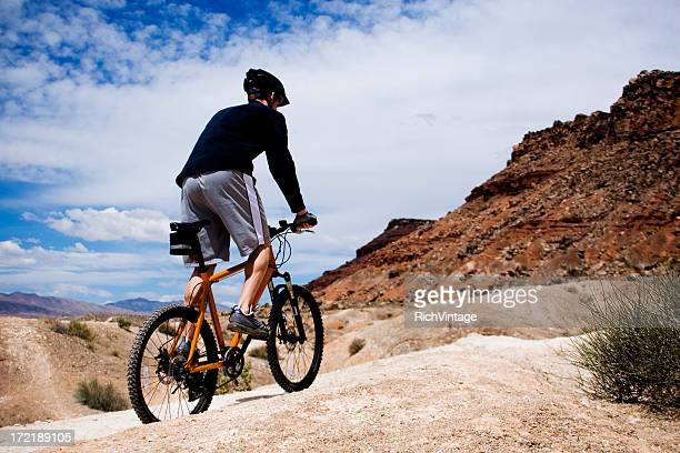 mountain bike utah! - great basin stock pictures, royalty-free photos & images