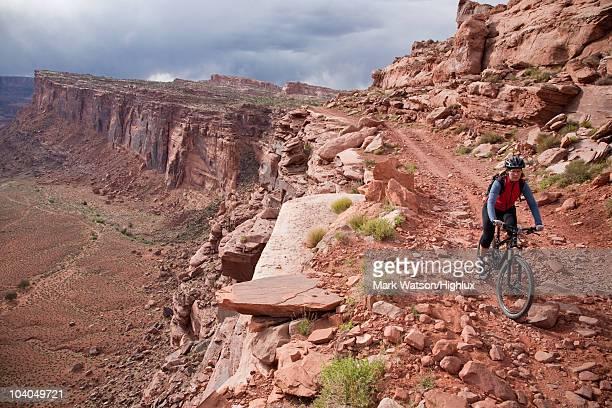 Mountain biker, Amasa Back Trail, Utah