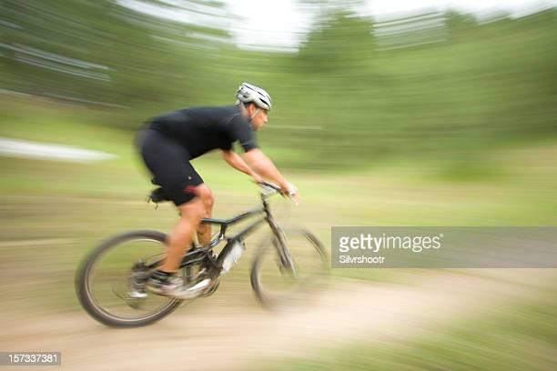 Mountain Biker at Speed