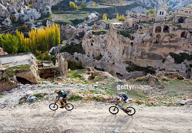 Mountain bikers exploring new routes in Turkey