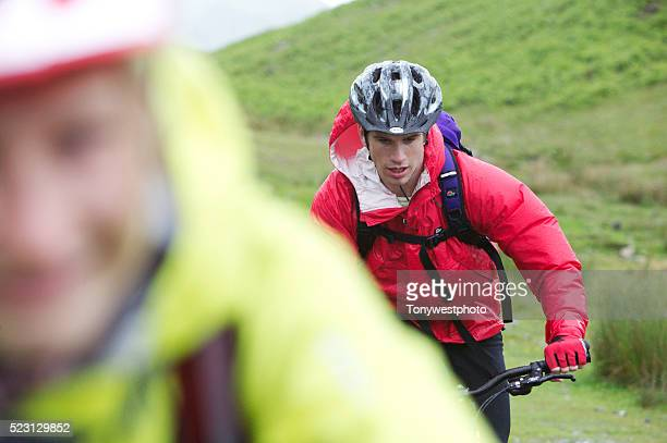mountain bikers - cycling helmet stock pictures, royalty-free photos & images
