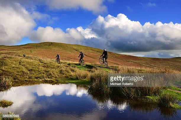 Mountain bikes in the Black Mountains, Wales