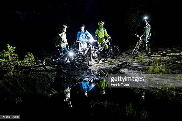 Mountain biking at night
