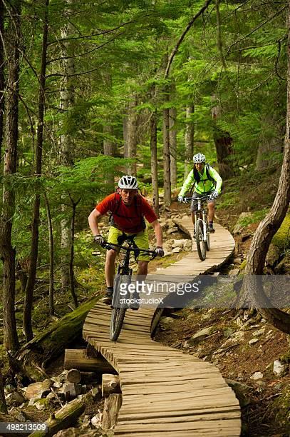 Mountainbiken Paar