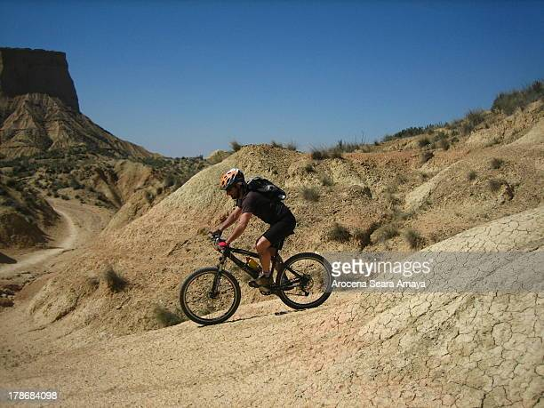Mountain Biking in Bardenas Reales Natural Park. This is a Natural Park of wild beauty declared a Biosphere Reserve by UNESCO. It is a semi-desert...