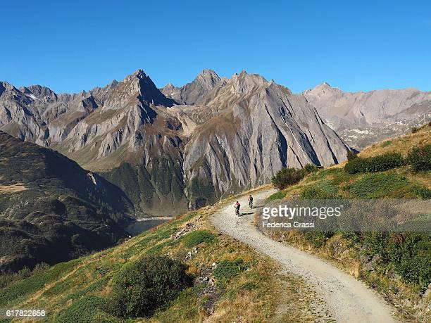 Mountain Biking In Formazza Valley, Piedmont, Northern Italy