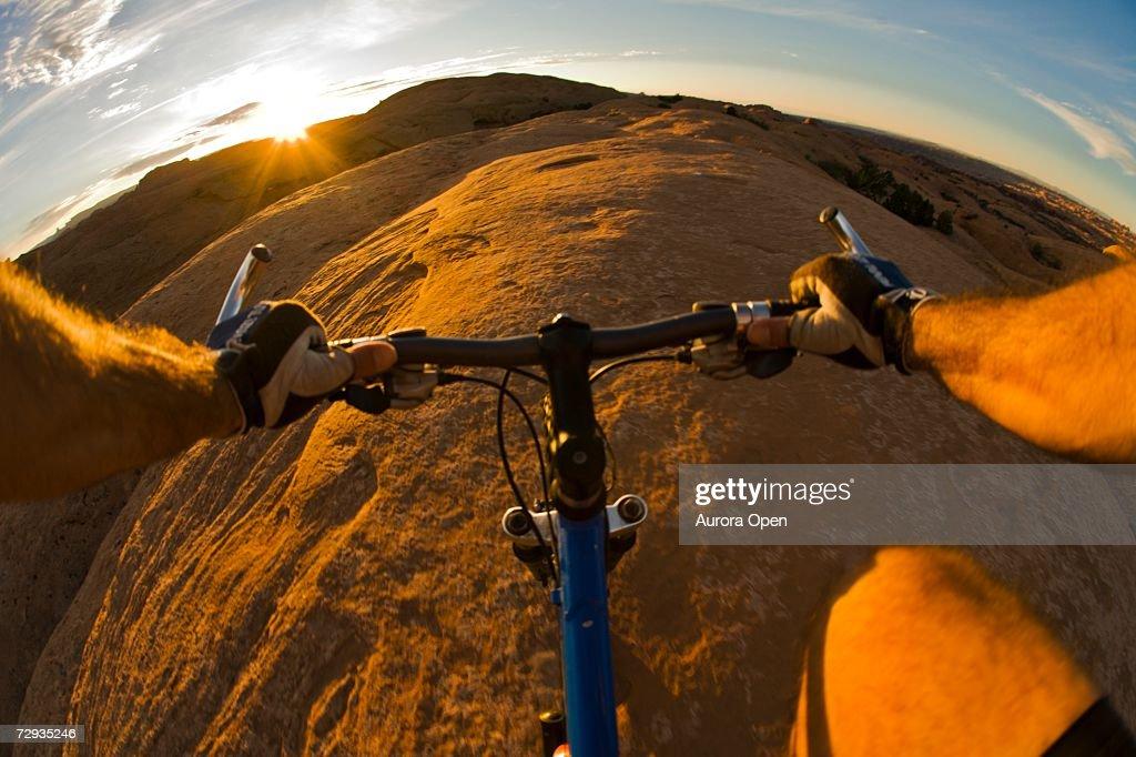 Mountain biking in Moab, Utah. : Stock Photo