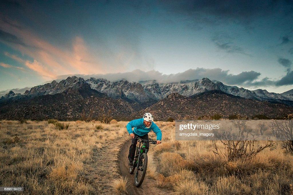 mountain biking nature and adventure : Stock Photo