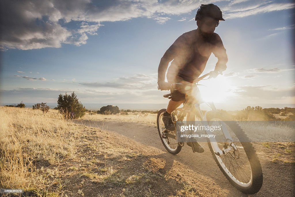mountain biking! : Stock Photo