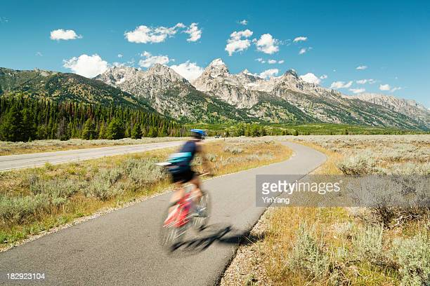 Mountain Biking, Road Cycling in Grand Teton National Park, USA