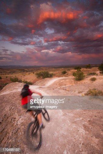 mountain biking the white mesa bike trails stock photo getty images