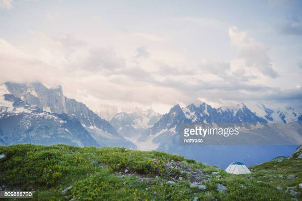 Berg Camping in de Europese Alpen
