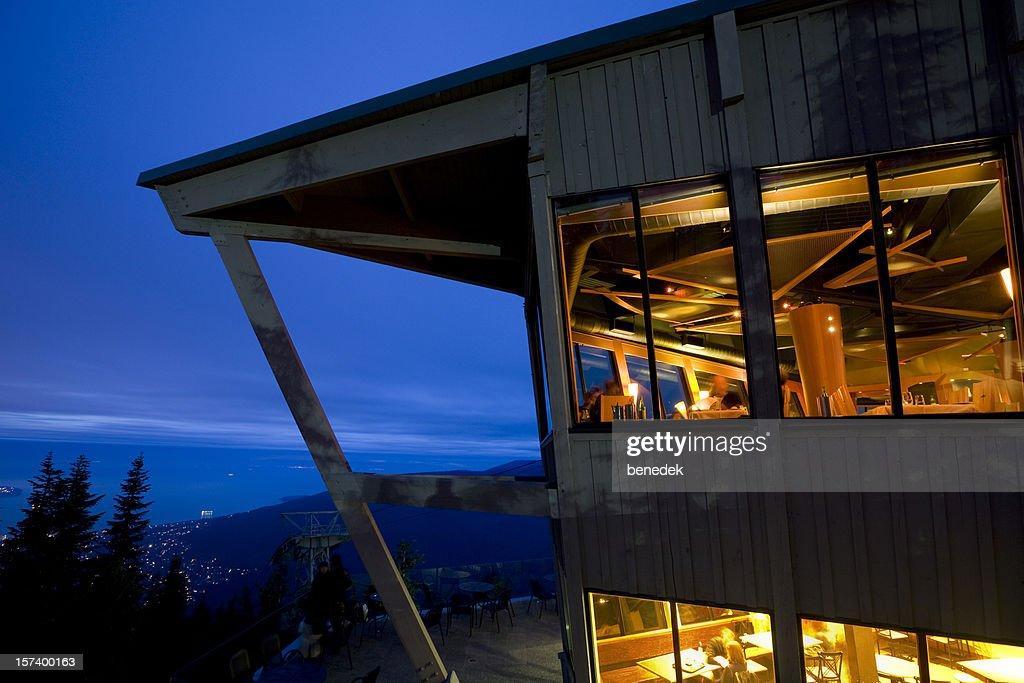 Mountain Chalet, Restaurant : Stock Photo