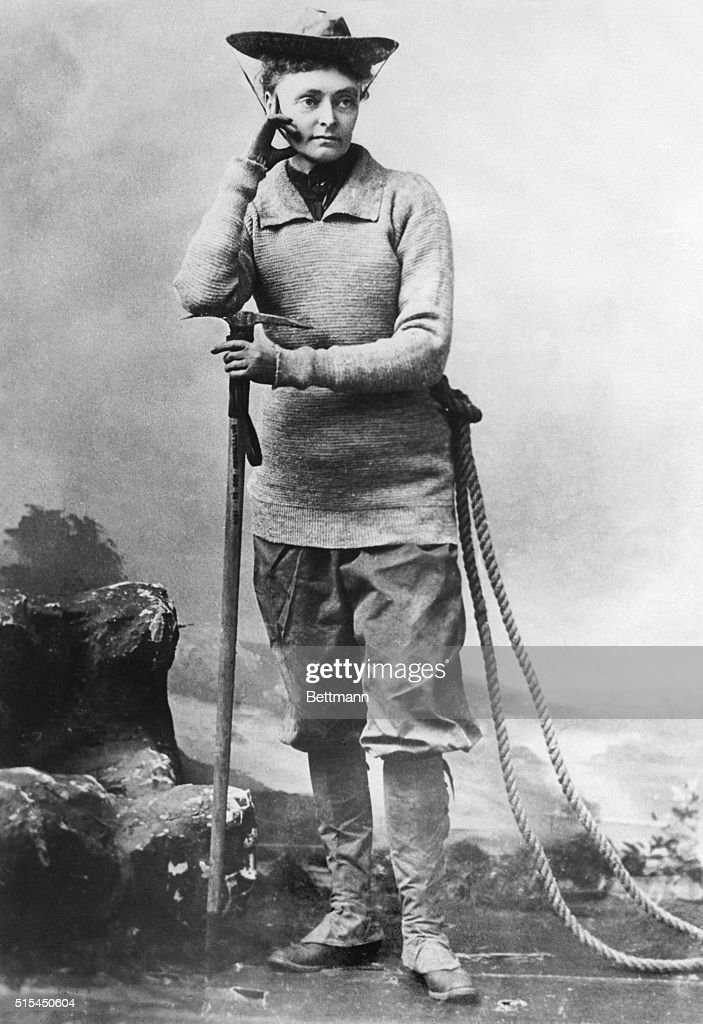 Mountain Climber Annie S. Peck In Outfit : News Photo
