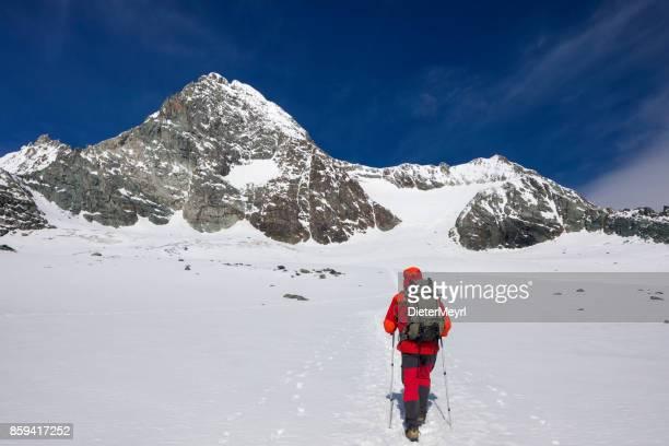 Bergsteiger am Großglockner, Österreichische Alpen