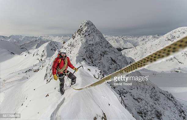 Mountain climber in the Austrian Alps