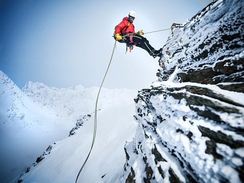 Mountain Climber in the Austrian Alps - gettyimageskorea