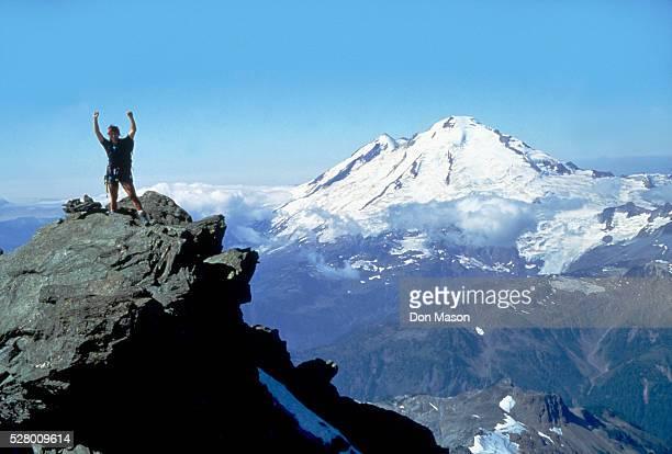 Mountain Climber Reaches Summit