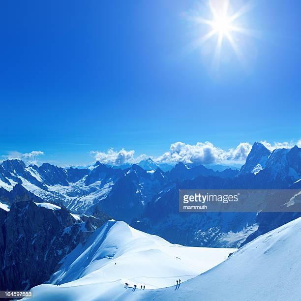 山登山者のモンブランエリア
