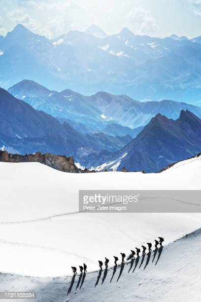 mountain climbers in the mont blanc massif - explore stock photos and pictures