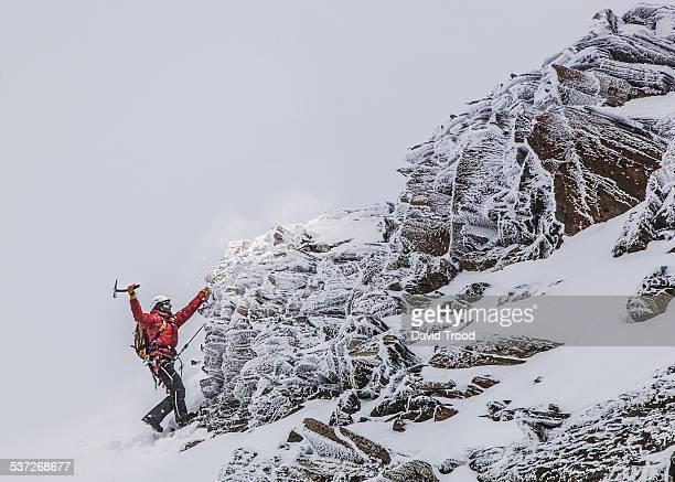Mountain climbing in the Austrian Alps