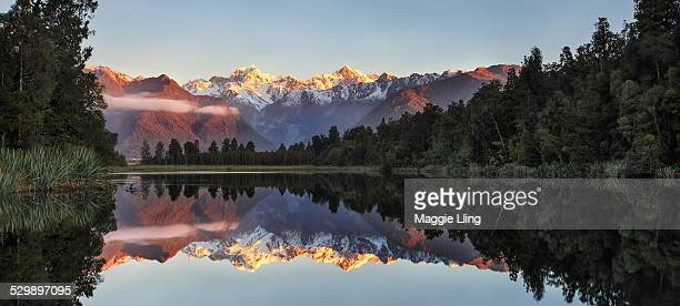 Mountain Cook reflection in lake