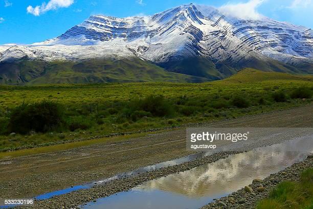 Mountain Country Road near Chalten, Patagonia Argentina, Los Glaciares