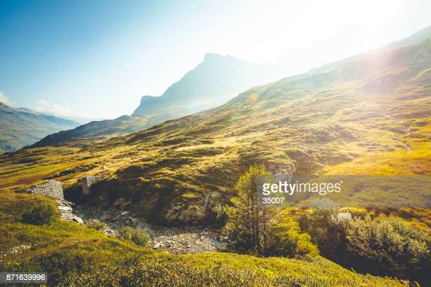 Mountain Creek auf dem Gipfel von San Bernardino Pass, Schweiz.