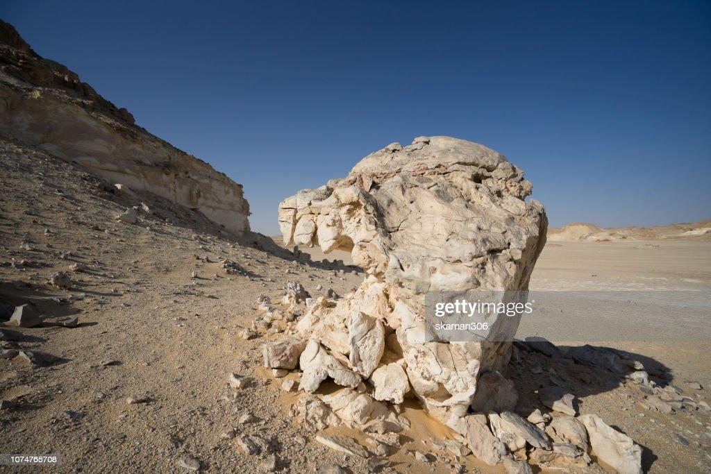 Mountain crystal at egypt valley near bahariya desert Egypt : Stock Photo