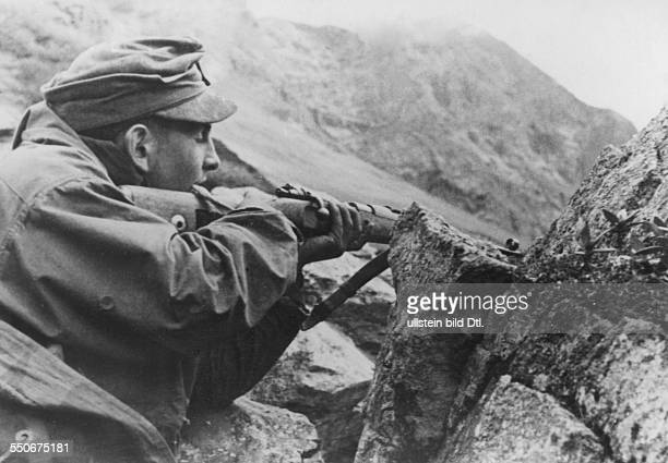 Mountain Division of the German Wehrmacht mountain infantry at Caucasus
