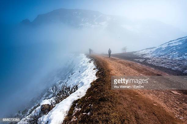 Mountain Footpath During Foggy Weather