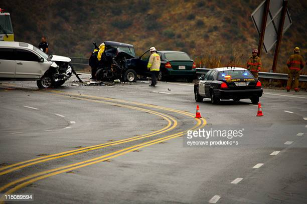 mountain highway - auto accident fatality - non urban scene stock pictures, royalty-free photos & images