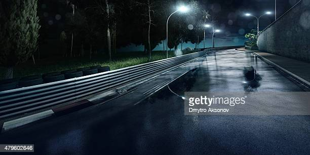 Mountain Highway Track at night