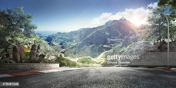 mountain highway track - motorsport stock pictures, royalty-free photos & images