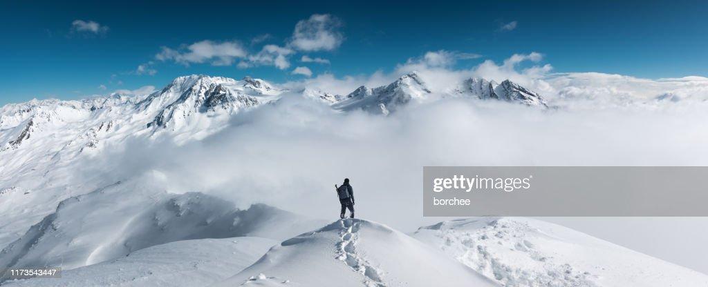 Bergwandelingen : Stockfoto