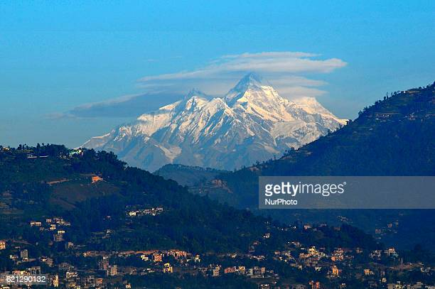 Mountain Himal Chuli along with Manaslu seen from Chobhar Kirtipur Kathmandu Nepal on Saturday November 05 2016 Since from past week due to the clear...