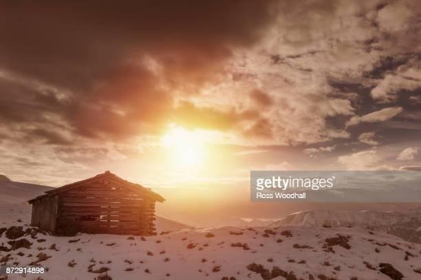 Mountain hut, Davos, Switzerland.