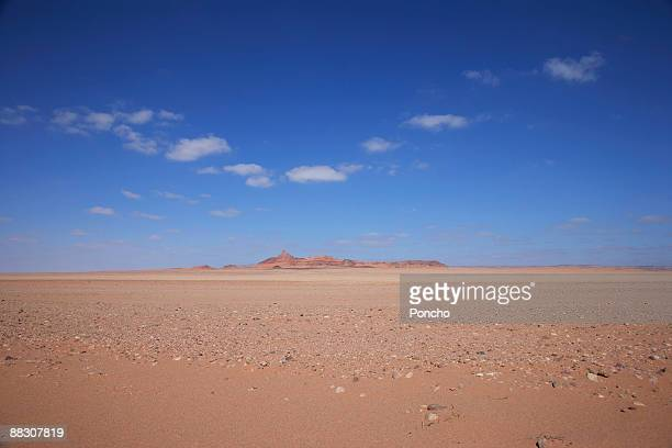Mountain in desert landscape