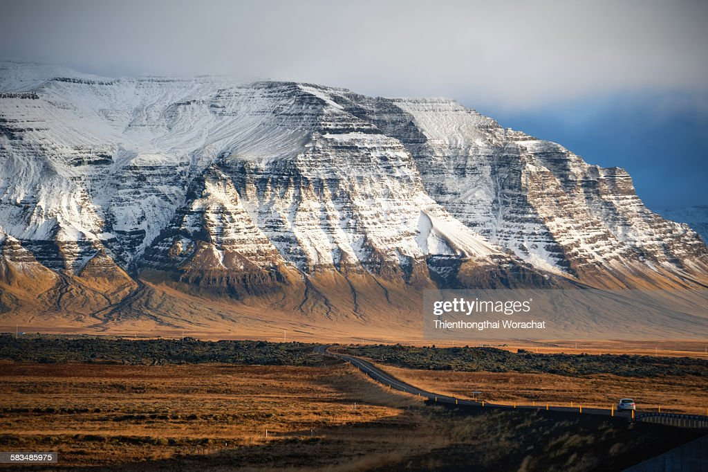 A mountain in Iceland : Stock Photo