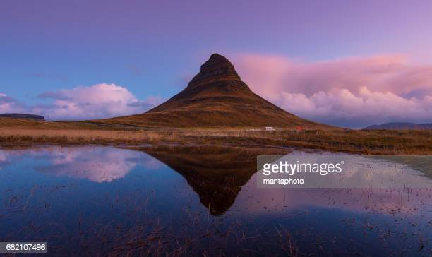 mountain kirkjufell, iceland - gullfoss falls stock photos and pictures