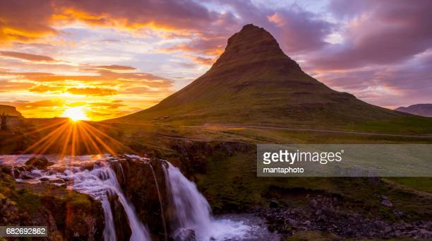 mountain kirkjufell - gullfoss falls stock photos and pictures