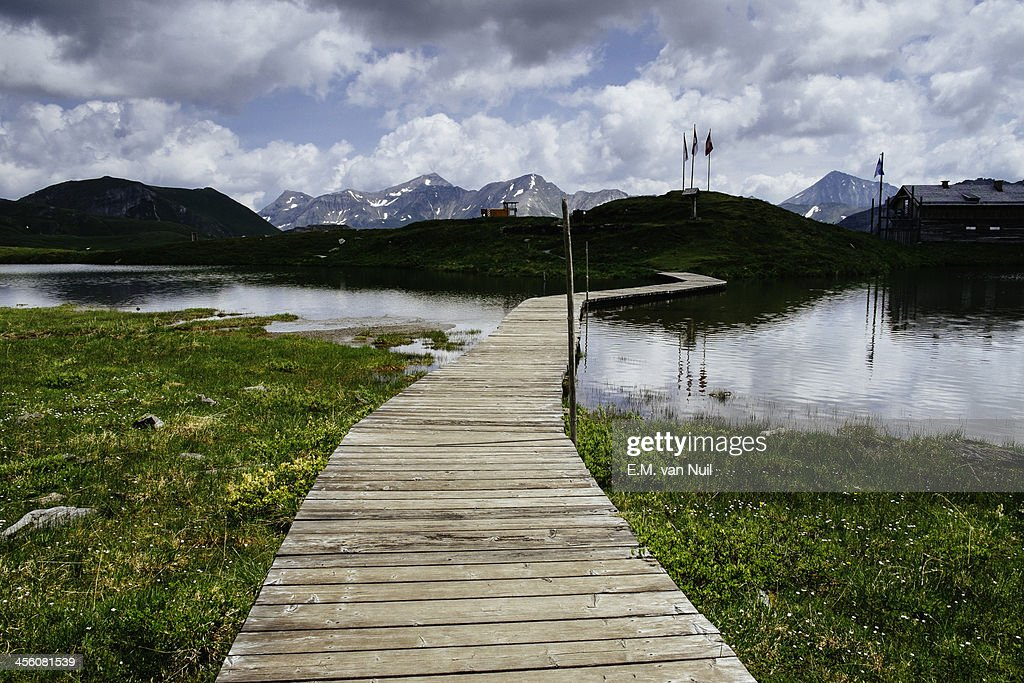 Mountain lake at Großglockner : Stockfoto