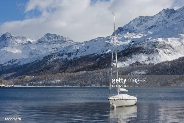 Mountain lake Engadine Switzerland Europe