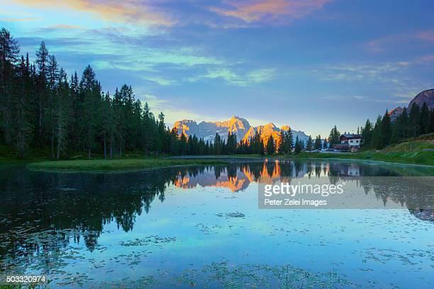 Mountain lake in the Dolomites, Italy