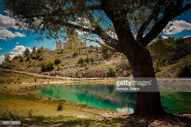 mountain lake, laje, dalmatia, croatia - laje stock pictures, royalty-free photos & images