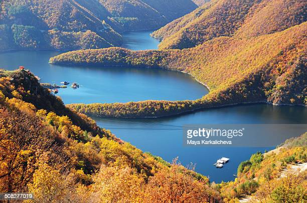 Mountain lake with meanders, Bulgaria