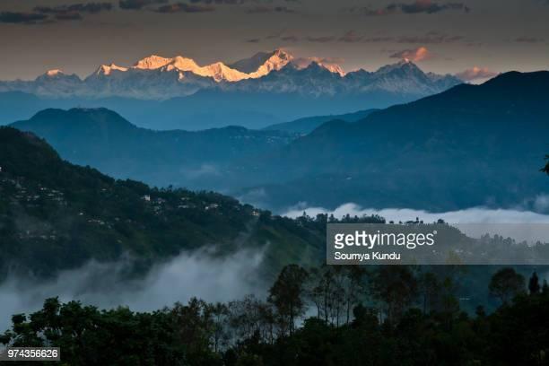Mountain landscape, Darjeeling, West Bengal, India
